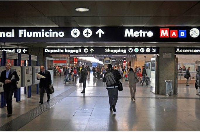 Sân bay Fiumicino, thủ đô Rome – Ý. Ảnh: Rail Europe