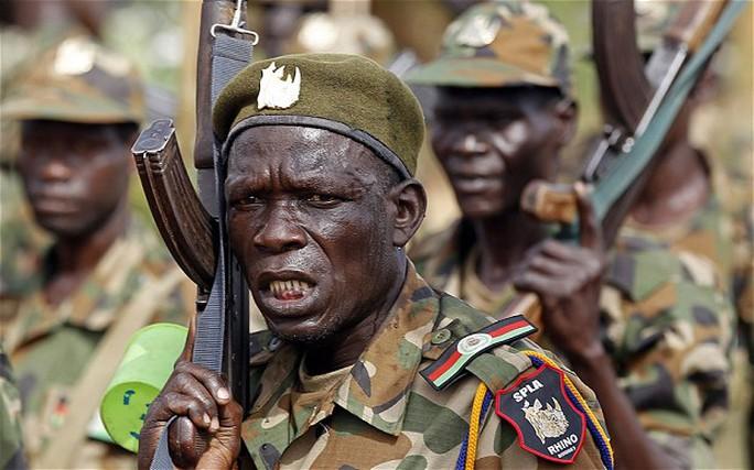 Binh sĩ thuộc lực lượng quân đội Nam Sudan (SPLA). Ảnh: Radio Tamazuj
