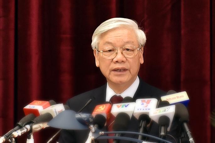 Tổng Bí thư Nguyễn Phú Trọng phát biểu bế mạc Hội nghị - Ảnh: VGP