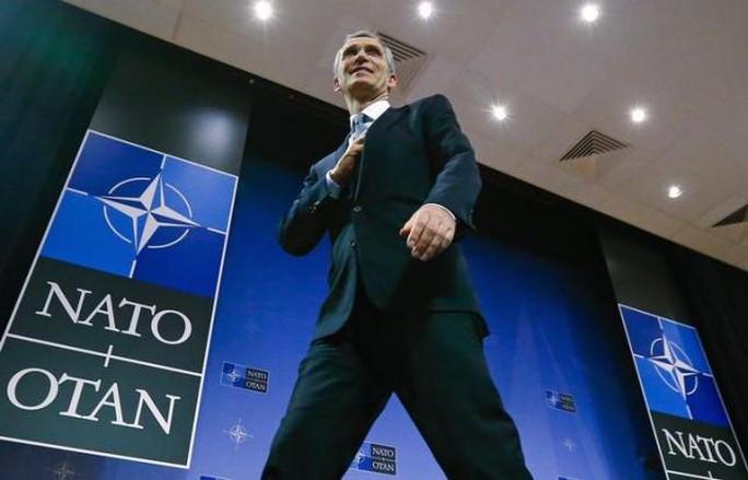 Tổng thư ký NATO Jens Stoltenberg tại trụ sở của khối ở Brussels - Bỉ. Ảnh: Reuters