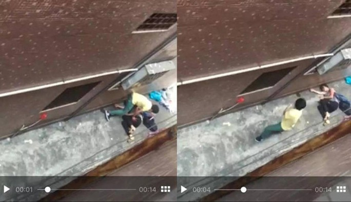 Gã bạn trai đâm cô gái rồi bỏ trốn. Ảnh: Shanghaiist