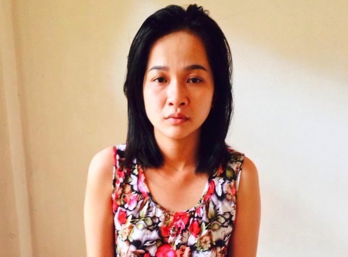 Nguyễn Thị Hằng Quyên tại cơ quan công an