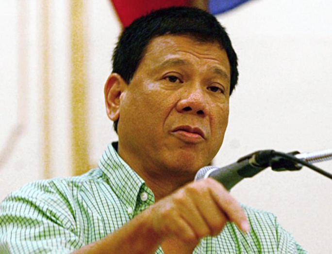Thị trưởng TP Davao Rodrigo Duterte. Ảnh: AP