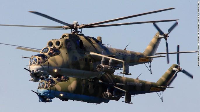 Trực thăng vận tải – tấn công Mi-24. Ảnh: RIA NOVOSTI