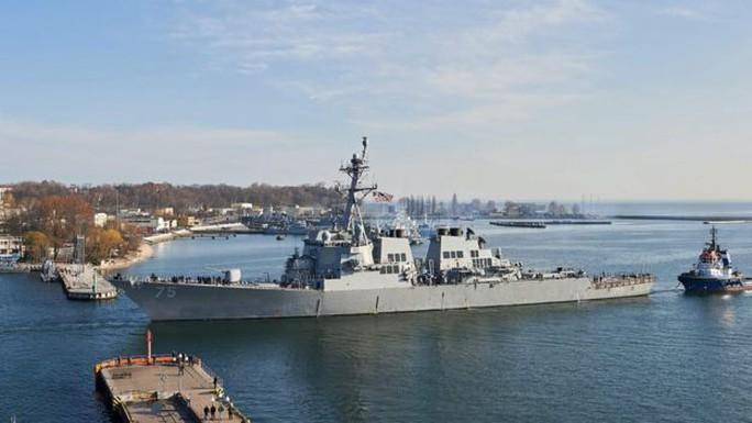 Tàu SS Donald Cook của Mỹ được trang bị hệ thống Aegis. Ảnh: EPA