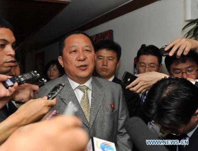 Cựu Thứ trưởng Ngoại giao Ri Yong-ho. Ảnh: Tân Hoa Xã