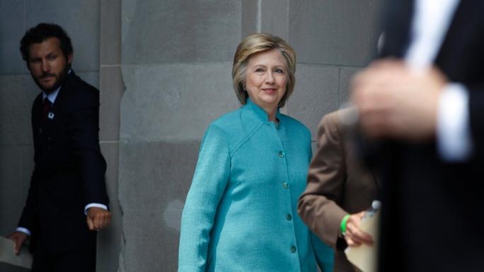 Bà Clinton tại TP Atlantic hôm 6-7. Ảnh: AP
