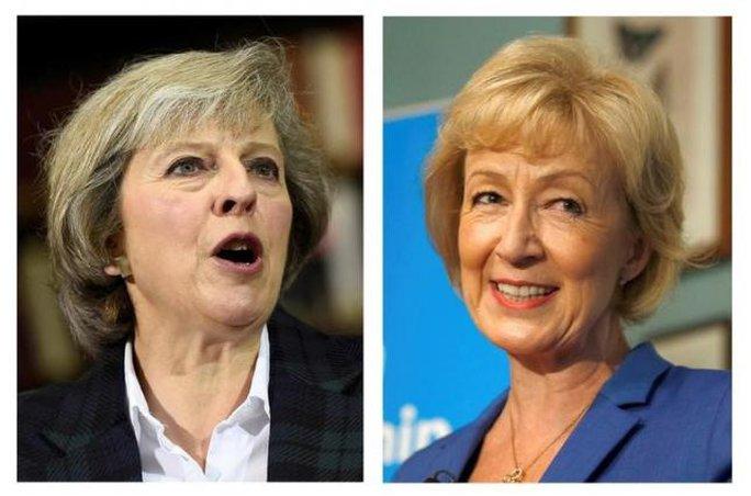 Bà Theresa May (trái) và Andrea Leadsom (phải). Ảnh: REUTERS