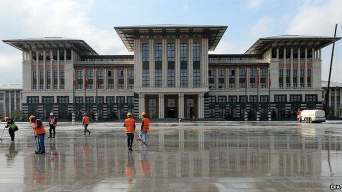 Cung điện Trắng của ông Erdogan. Ảnh: EPA