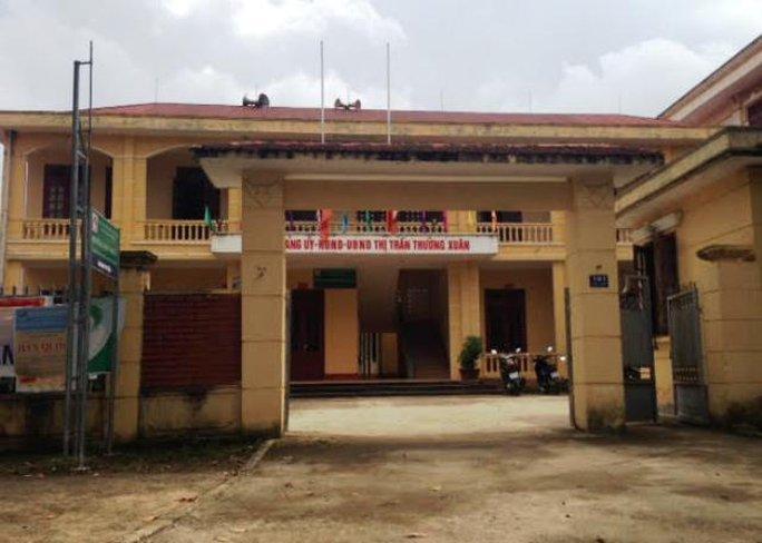 Công sở thị trấn Thường Xuân - nơi ông Trịnh Quang Hạnh đang công tác