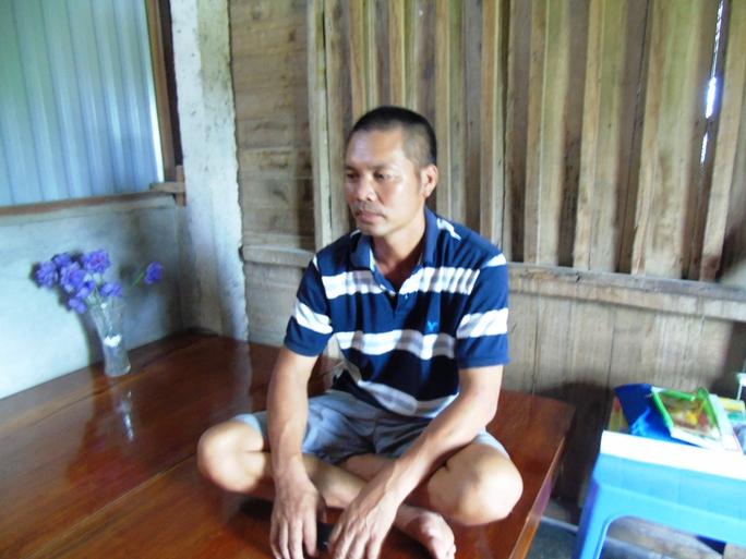 Anh Biên, một thợ gặt bị nhóm côn đồ hành hung gây thương tích