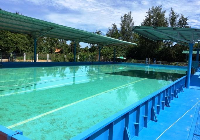 Hồ bơi tại Trường THCS Nghĩa Hà, TP Quảng Ngãi