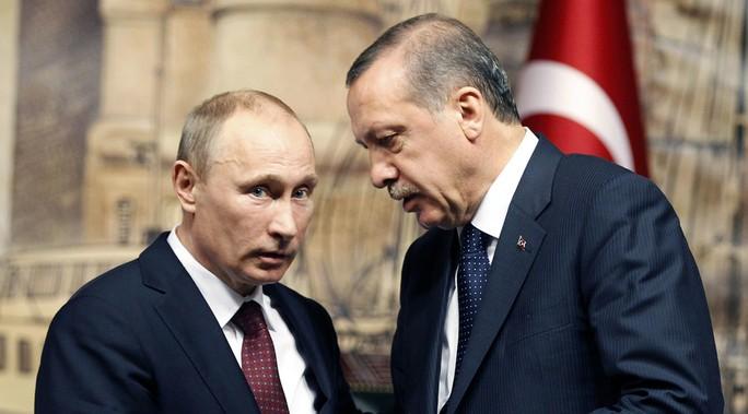 Tổng thống Thổ Nhĩ Kỳ đã gởi một bức thư cho Tổng thống Nga Vladimir Putin. Ảnh: REUTERS