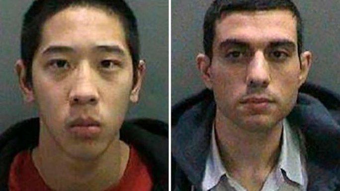 Jonathan Tieu (trái) và Hossein Nayeri vẫn đang chạy trốn. Ảnh: AP