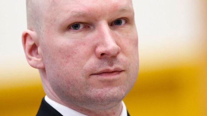 Kẻ thảm sát Na Uy Anders Behring Breivik. Ảnh: EPA