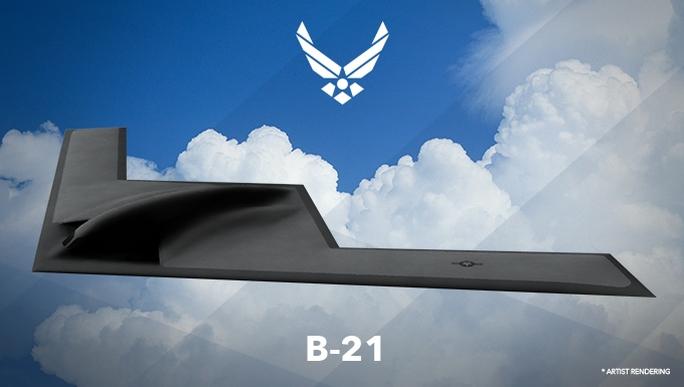 Hình ảnh máy bay B-21. Ảnh: Defense News