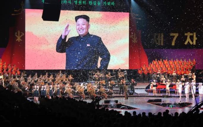 Hình ảnh trong lễ bế mạc Đại hội Đảng Lao động Triều Tiên. Ảnh: EPA