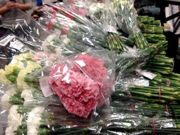 Số hoa cẩm chướng Godfrey chuẩn bị cho kế hoạch đặc biệt của mình. Ảnh: Facebook của Godfrey