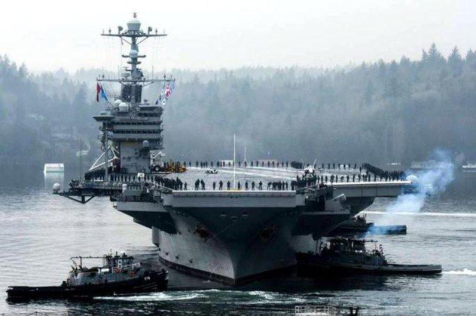Tàu sân bay USS John C. Stennis. Ảnh: Hải quân Mỹ