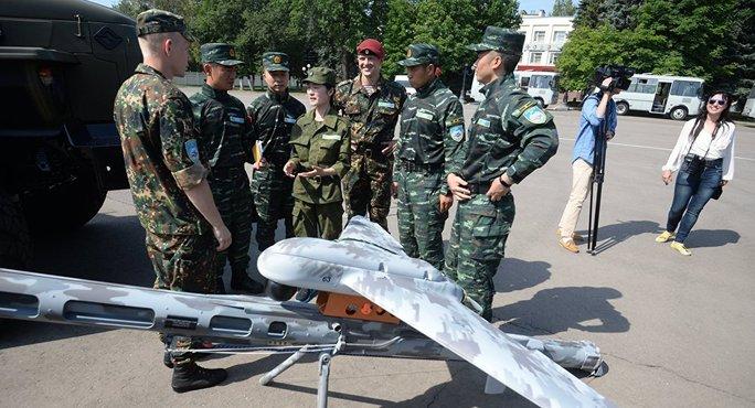 Vệ binh Quốc gia Nga và Cảnh sát Vũ trang Nhân dân Trung Quốc bắt đầu cuộc tập trận chung. Ảnh: Sputnik