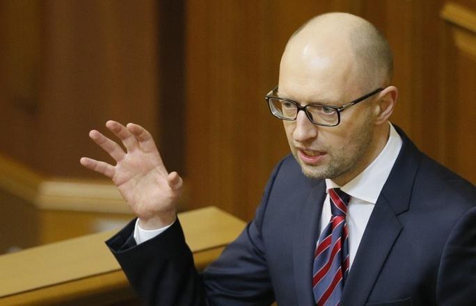 Thủ tướng Arseniy Yatsenyuk. Ảnh: EPA