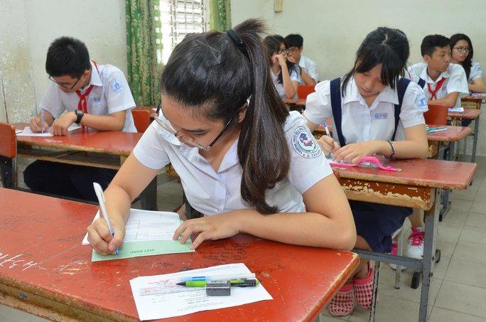 Học sinh TP HCM trong kỳ thi tuyển vào lớp 10 Ảnh: TẤN THẠNH