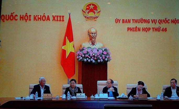 Phiên họp Ủy ban Thường vụ Quốc hội sáng 9-3 - Ảnh chụp qua màn hình