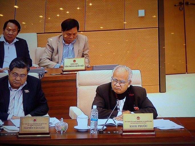 Ông Ksor Phước có những đánh giá thẳng thắn về công tác của các toà án - Ảnh chụp qua màn hình