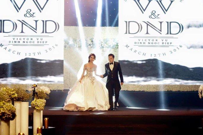 Victor Vũ và Đinh Ngọc Diệp vừa tổ chức đám cưới vào tối 12-3
