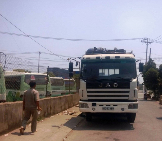 Chiếc xe tải được xác định có liên quan đến vụ tai nạn