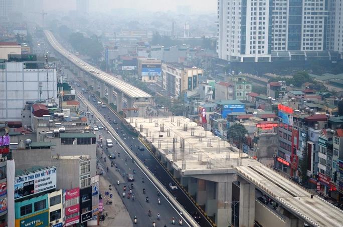 Tuyến đường sắt trên cao Cát Linh - Hà Đông tầng cao nhất trong nút giao thông 4 tầng
