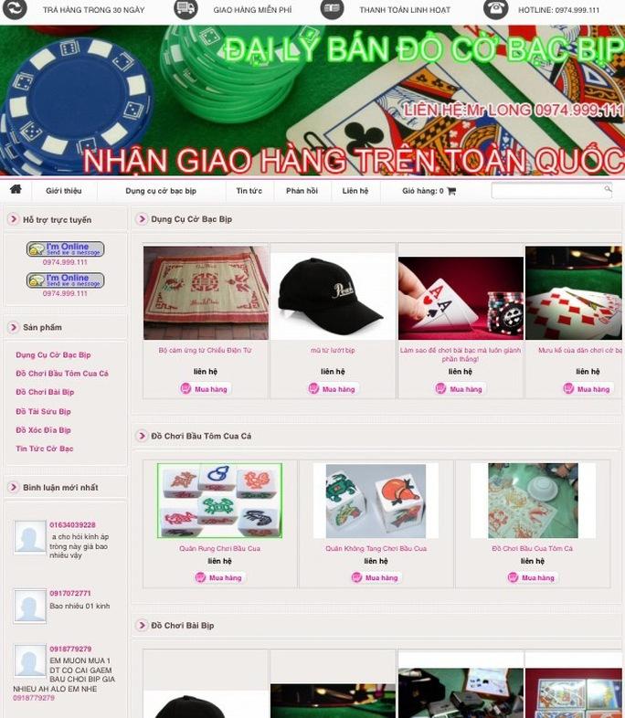 Thiết bị cờ bạc có chứa chất phóng xạ được bán trên mạng Ảnh: TRỌNG ĐỨC