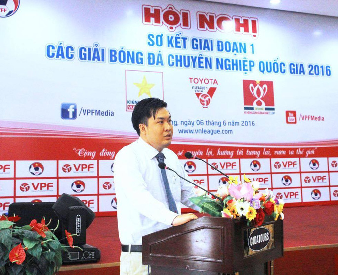 Tổng giám đốc VPF Cao Văn Chóng phát biểu tại hội nghị
