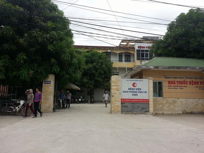 Bệnh viện Giao thông vận tải Vinh, nơi xảy ra sự việc khiến thai nhi tử vong