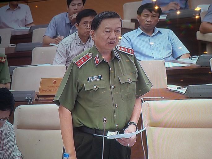 Bộ trưởng Công an Tô Lâm cho rằng công tác của lực lượng cảnh vệ rất đặc thù, vì vậy cần có chính sách đặc thù - Ảnh chụp qua màn hình