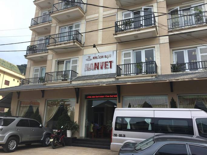 Khách sạn Hanvet, thị trấn Tam Đảo - nơi đang diễn ra cuộc họp của Hội đồng tiền lương Quốc gia bàn phương án tăng lương tối thiểu vùng năm 2017 cho người lao động - ảnh: Văn Duẩn