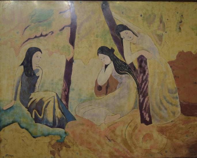 """Bức """"3 cô gái"""" của họa sĩ Dương Bích Liên tại triển lãm """"Những bức tranh trở về từ châu Âu"""" bị cho là giả"""