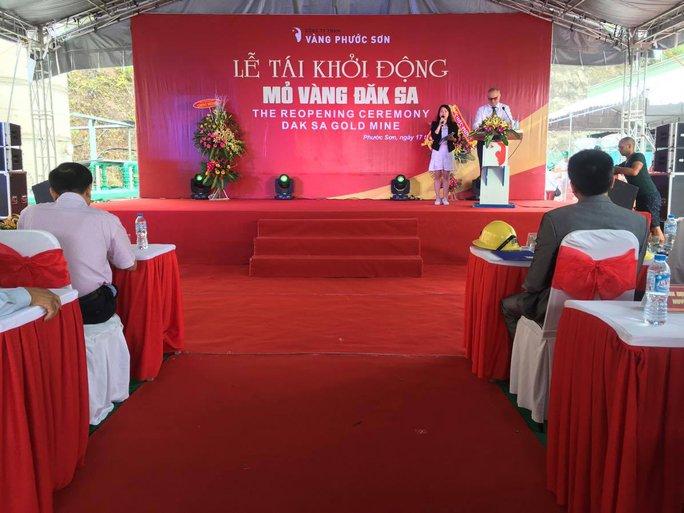 Công ty Phước Sơn tổ chức tái khởi động khai thác vàng Ảnh: CTV