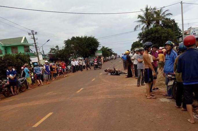 Hiện trường vụ tai nạn giao thông - Ảnh người dân cung cấp