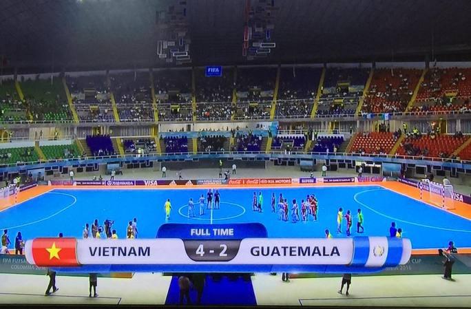 Chiến thắng 4-2 khó tin trước Guatemala đã giúp tuyển futsal Việt Nam ghi tên vào lịch sử