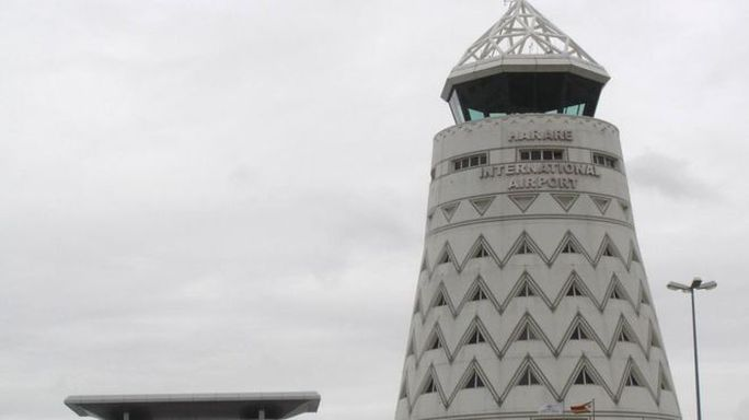 Sân bay quốc tế Harare. Ảnh: BBC
