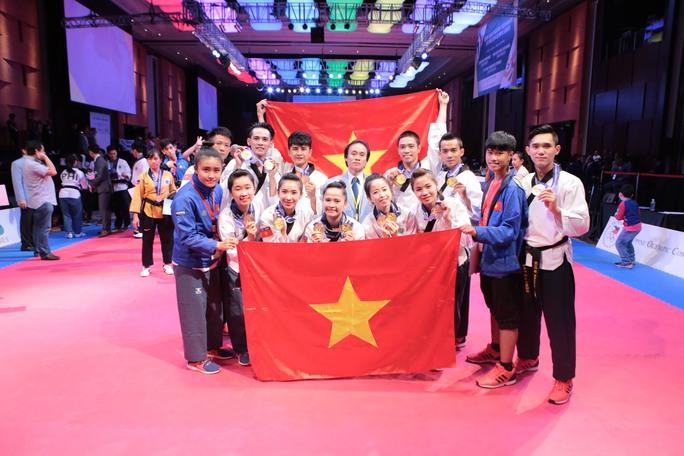 Đội tuyển quyền taekwondo của Việt Nam Ảnh: Thanh Huy