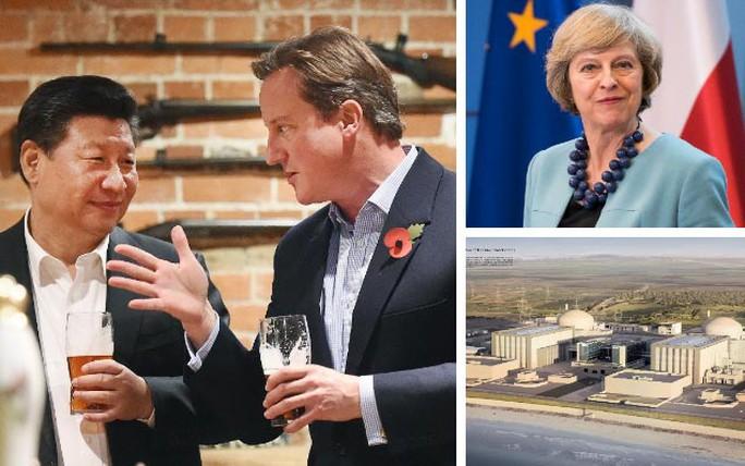 Tân Thủ tướng Theresa May (bìa phải) cho thấy sự khác biệt trong chính sách với người tiền nhiệm David Cameron (bìa trái) khi tạm dừng dự án Hinkley Point C Ảnh: TELEGRAPH
