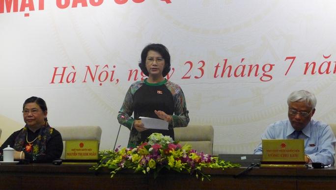 Chủ tịch Quốc hội Nguyễn Thị Kim Ngân khẳng định Quốc hội sẽ giám sát sự cố Formosa làm chết hải sản ở 4 tỉnh Miền Trung.