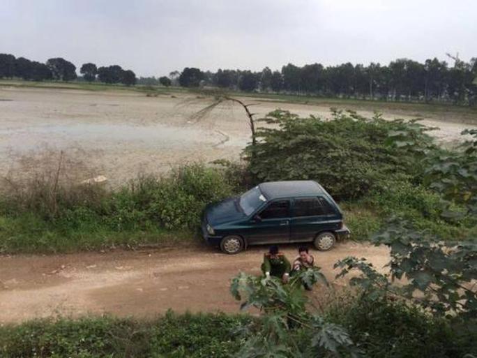 Chiếc xe ô tô trong vụ việc được phát hiện trên địa bàn quận Hà Đông