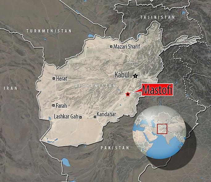 Ngôi làng Mastofi gần biên giới Pakistan, nơi xảy ra vụ việc. Ảnh: Daily Mail