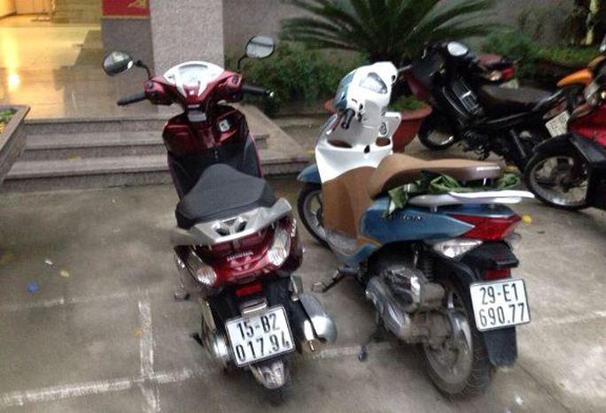 Hai chiếc xe máy trong vụ việc