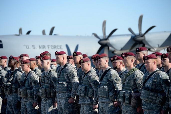 Quân đội Mỹ tại Lithuania. Ảnh: GB TIMES