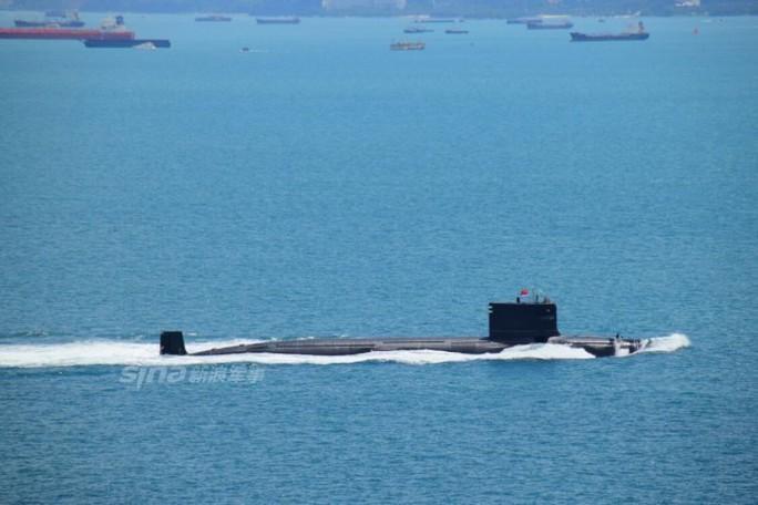 Một hạm đội tàu ngầm của Quân Giải phóng Nhân dân Trung Quốc (PLA) đã đi qua eo biển Malacca. Ảnh: OCEAN-FORTUNE