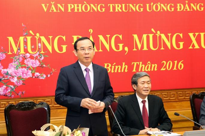 Ông Nguyễn Văn Nên phát biểu tại buổi lễ công bố quyết định phân công của Bộ Chính trị